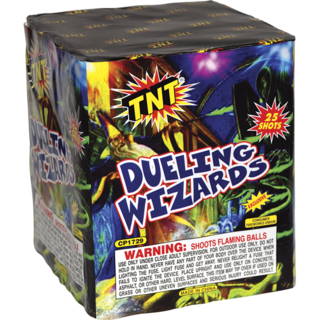 Firework Aerial Finale Dueling Wizards