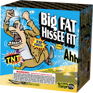 500 Gram Firework Aerial Finale Big Fat Hissee Fit