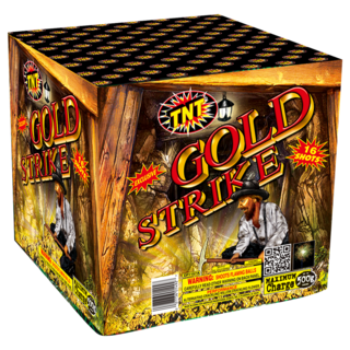 500 Gram Firework Supercenter Gold Strike