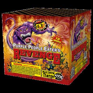 500 Gram Firework Aerial Finale Purple People Eater's Revenge